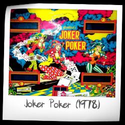 Joker Poker Pinball Machine Gottlieb 1978 Forum
