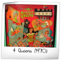 presenting lowest discount really comfortable 4 Queens Pinball Machine (Bally, 1970)   Pinside Game Archive