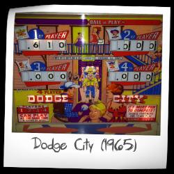Dodge City Pinball Machine (Gottlieb, 1965) | Pinside Game