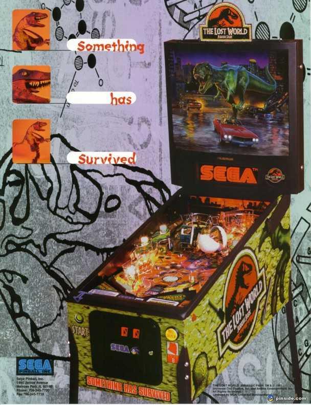 The Lost World Jurassic Park Pinball Machine (Sega, 1997