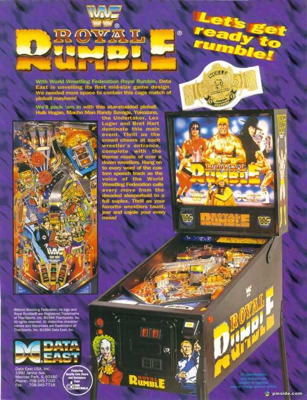 royal rumble pinball machine