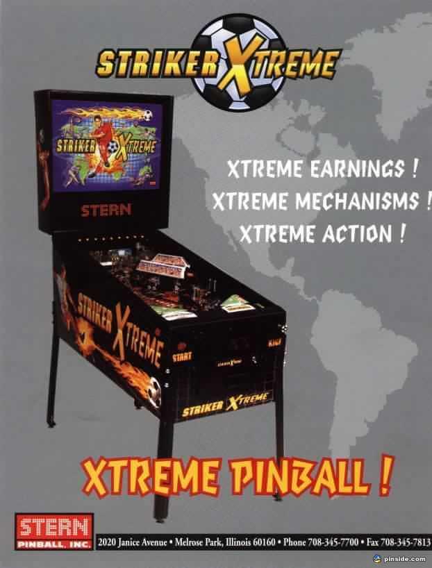 Striker Xtreme Pinball Machine (Stern, 2000) | Pinside Game Archive