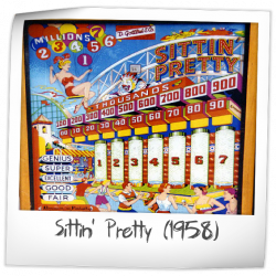 Sittin' Pretty Pinball Machine (Gottlieb, 1958)   Pinside Game Archive