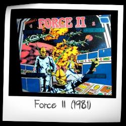 1981 GOTTLIEB FORCE II PINBALL FLYER