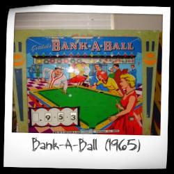 1965 Bank-A-Ball Cabinet Head