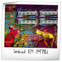 Sinbad EM Backglass