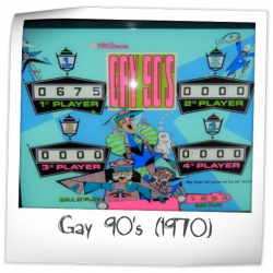 Gay 90's Backglass