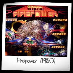 Firepower Pinball Machine Williams 1980 Pinside Game Archive