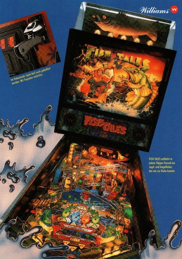 Fish tales pinball machine williams 1992 pinside game for Fish game machine