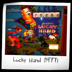 Lucky Hand Original Backglass