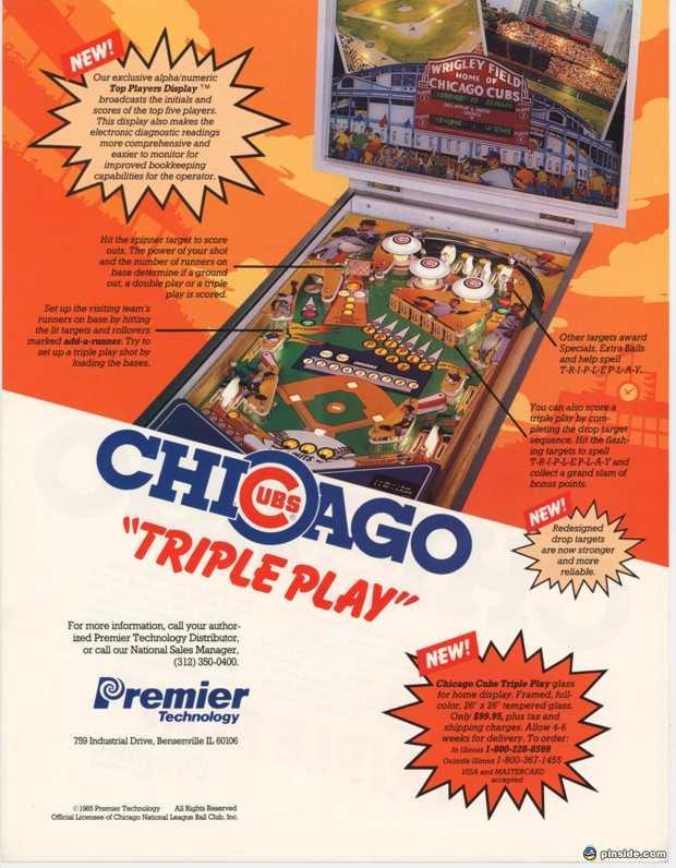 cubs pinball machine