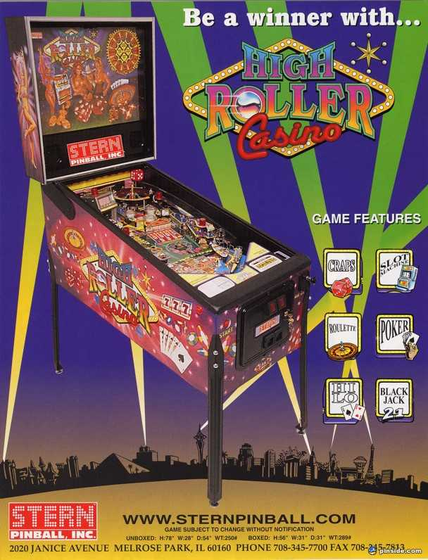 high roller casino pinball