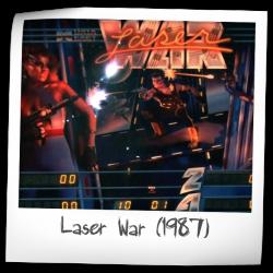 1987 DATA EAST LASER WAR PINBALL FLYER