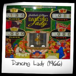 GOTTLIEB 1966 DANCING LADY EM  PINBALL FLYER