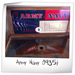 Image of the Army Navy Marquee and upper play field