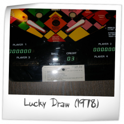 Lucky Draw Pinball Machine Mirco Games 1978 Pinside Game Archive