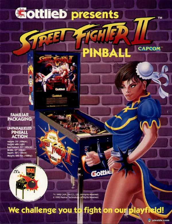 Image result for street fighter 2 pinball