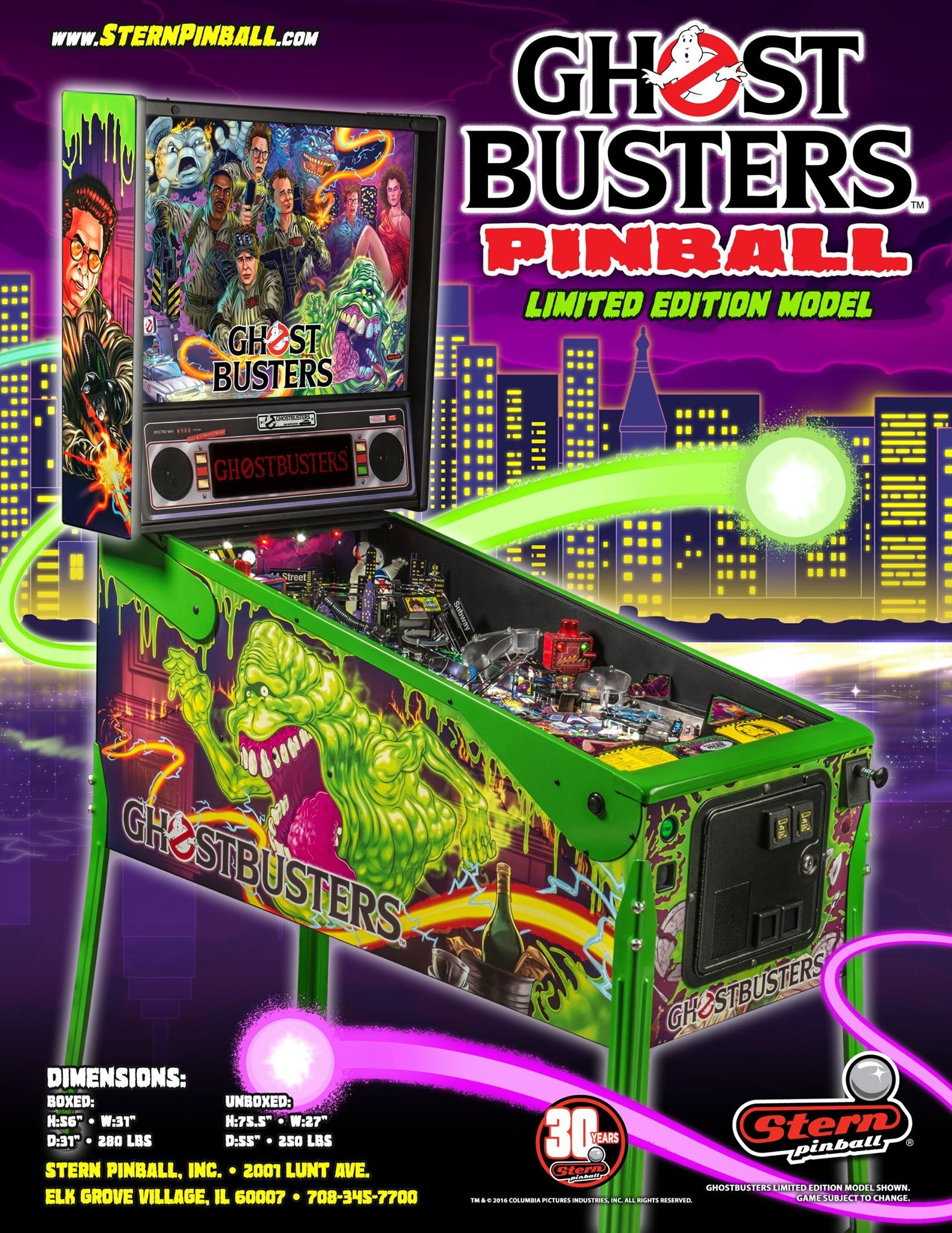 ghostbusters pro pinball machine stern 2016 pinside game archive. Black Bedroom Furniture Sets. Home Design Ideas